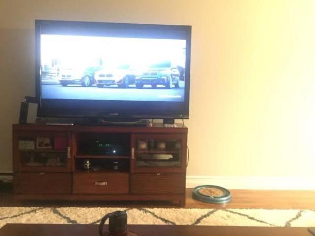 Meuble TV de 60 pouces brun