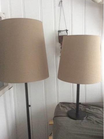 Deux lampes en bronze personnalisées